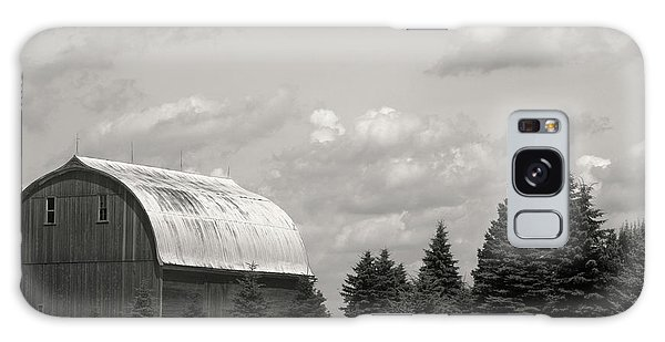 Black And White Barn Galaxy Case by Joann Copeland-Paul
