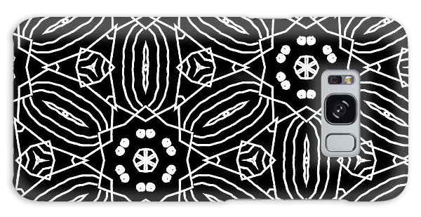 Black And White Boho Pattern 2- Art By Linda Woods Galaxy Case by Linda Woods