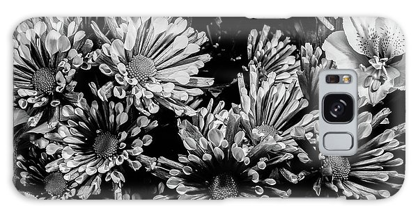 Black And White Bouquet Galaxy Case