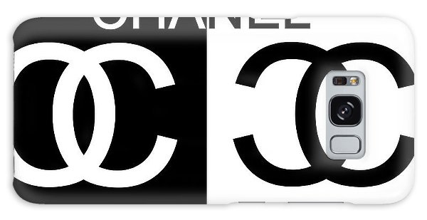 Black And White Chanel 2 Galaxy Case