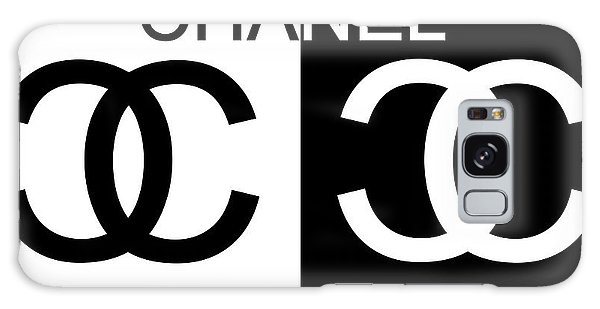 Logo Galaxy Case - Black And White Chanel by Dan Sproul
