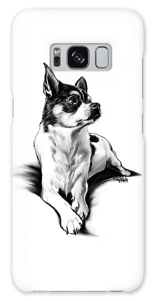 Black And White Chihuahua By Spano Galaxy Case