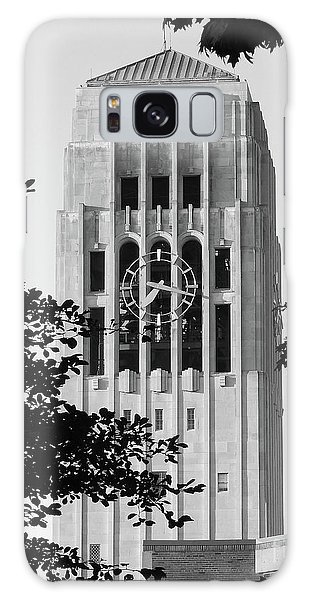 Black And White Clock Tower Galaxy Case