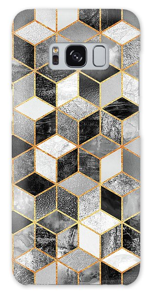 Graphic Galaxy Case - Black And White Cubes by Elisabeth Fredriksson