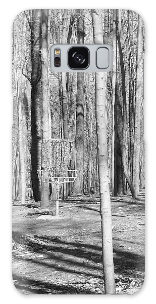 Black And White Disc Golf Basket Galaxy Case by Phil Perkins