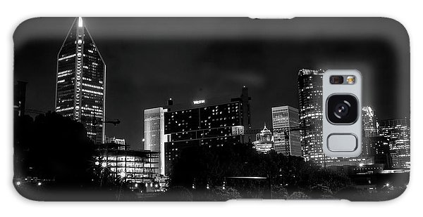 Black And White Downtown Galaxy Case