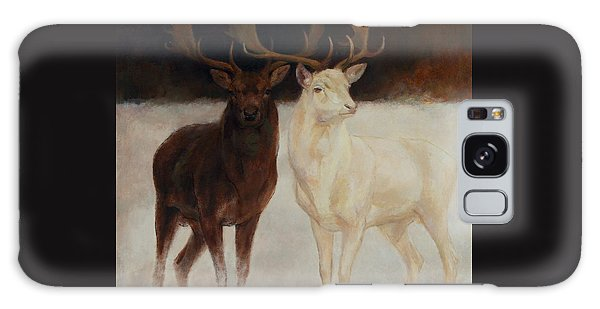 Black And White Fallow Deers Galaxy Case