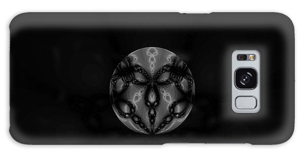 Black And White Globe Fractal Galaxy Case