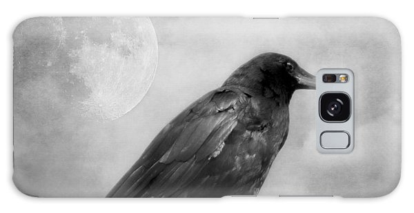 Black And White Gothic Crow Raven Art Galaxy Case