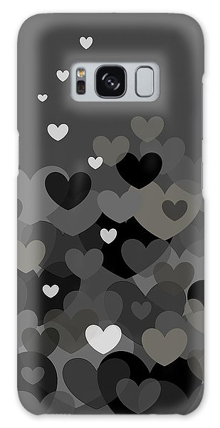 Black And White Heart Abstract Galaxy Case