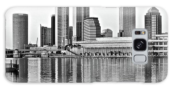 Black And White In The Heart Of Tampa Bay Galaxy Case by Frozen in Time Fine Art Photography