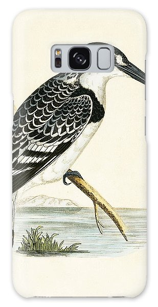 Black And White Kingfisher Galaxy Case