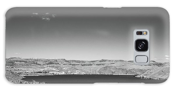Black And White Landscape Photo Of Dry Glacia Ancian Rock Desert Galaxy Case by Jingjits Photography