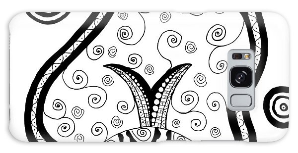 Black And White Life Galaxy Case