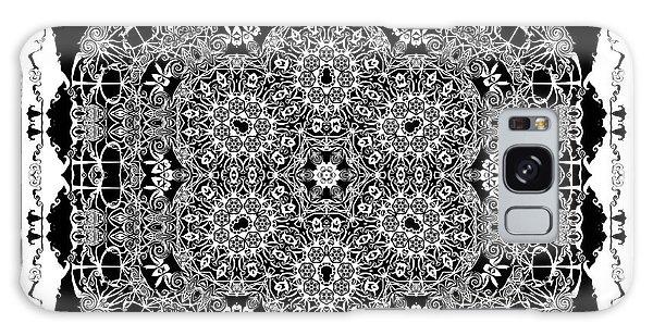Galaxy Case featuring the digital art Black And White Mandala 15 by Robert Thalmeier