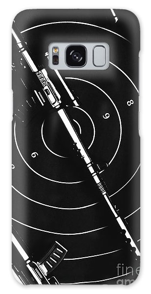 Tactical Galaxy Case - Black And White Military Marksman  by Jorgo Photography - Wall Art Gallery