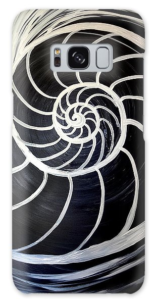Black And White Nautilus Spiral Galaxy Case
