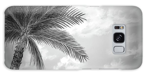 Galaxy Case featuring the digital art Black And White Palm by Darren Cannell