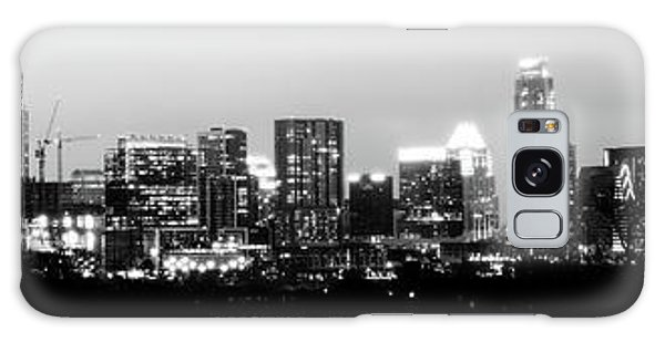 Black And White Panoramic View Of Downtown Austin Galaxy Case