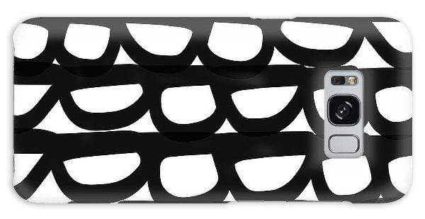 Stone Galaxy Case - Black And White Pebbles- Art By Linda Woods by Linda Woods
