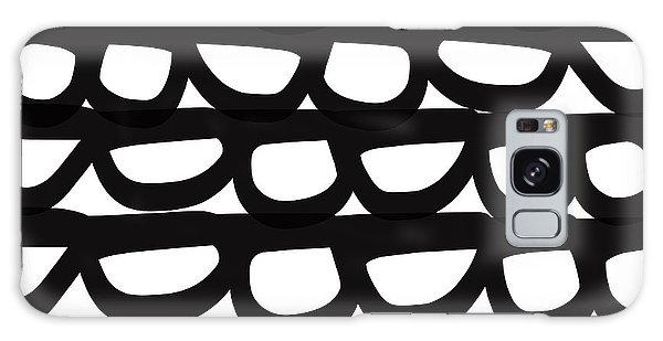 Black And White Pebbles- Art By Linda Woods Galaxy Case