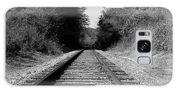 Black And White Railroad Galaxy Case