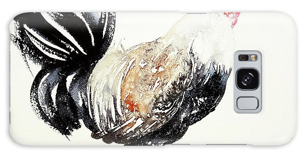 Black And White Rooster Galaxy Case