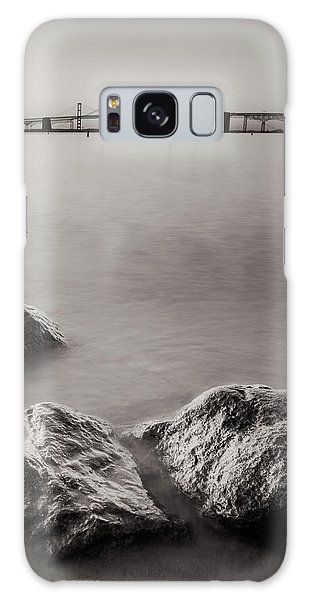 Black And White Sandy Point Galaxy Case