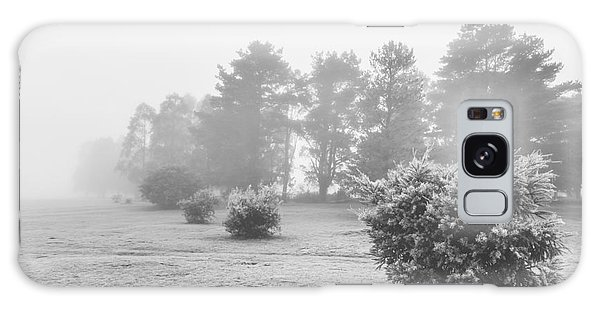Cold Day Galaxy Case - Black And White Snow Landscape by Jorgo Photography - Wall Art Gallery