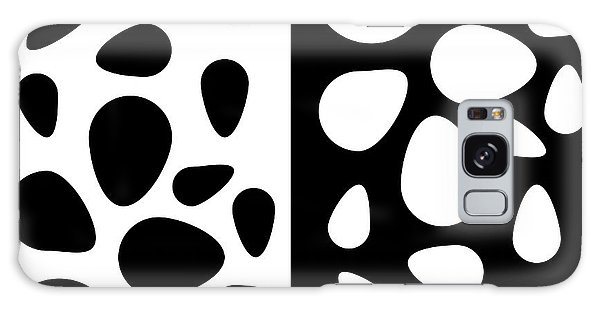 Black And White Teardrops Galaxy Case