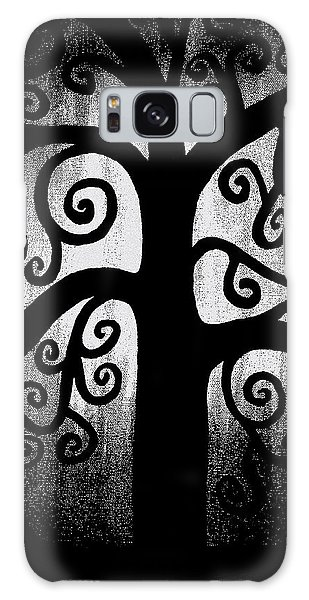 Black And White Tree Galaxy Case