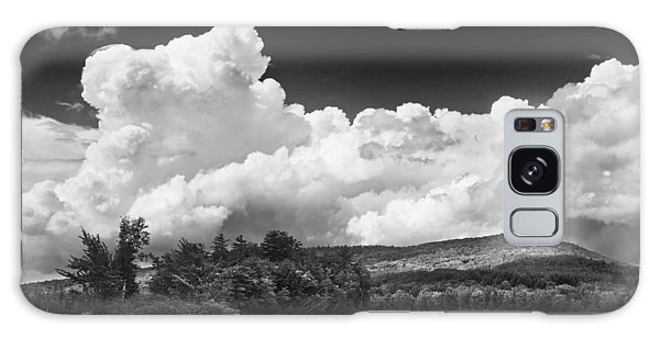 Black And White Vienna Maine Flying Pond With Storm Clouds Fine Art Print Galaxy Case by Keith Webber Jr