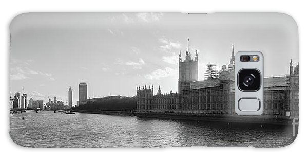 Black And White View Of Thames River And House Of Parlament From Galaxy Case