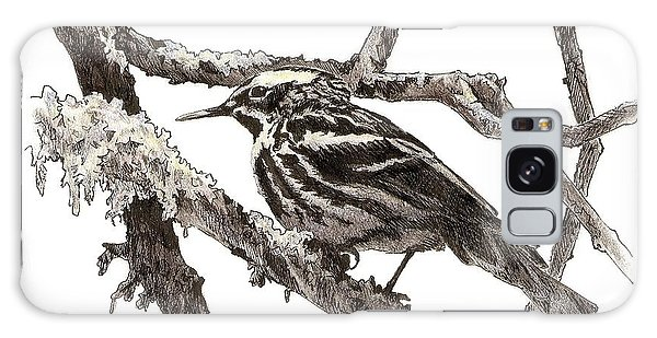 Black-and-white Warbler Galaxy Case
