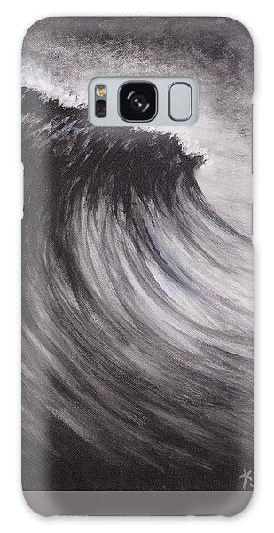 Black And White Wave Guam Galaxy Case
