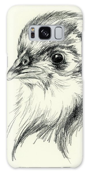 Black Australorp Chick In Charcoal Galaxy Case