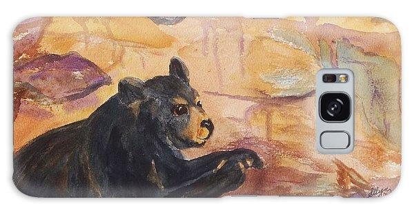 Black Bear Cub Galaxy Case by Ellen Levinson