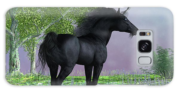 Black Buck Galaxy Case - Black Beauty Unicorn by Corey Ford