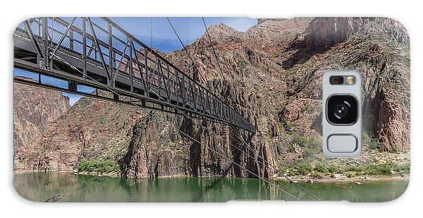 Black Bridge Over The Colorado River At Bottom Of Grand Canyon Galaxy Case