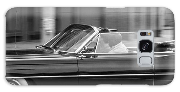 Galaxy Case featuring the photograph Black Cadillac Convertible by SR Green