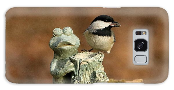 Black-capped Chickadee And Frog Galaxy Case