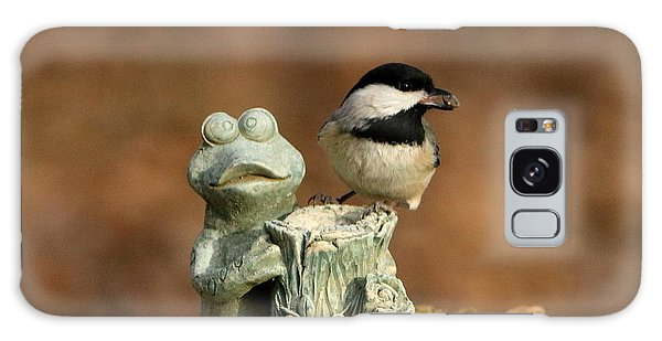 Black-capped Chickadee And Frog Galaxy Case by Sheila Brown
