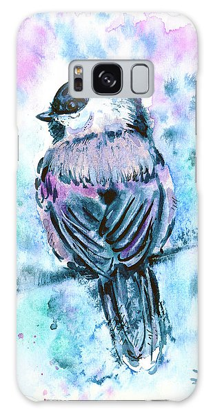 Galaxy Case featuring the painting Black-capped Chickadee by Zaira Dzhaubaeva