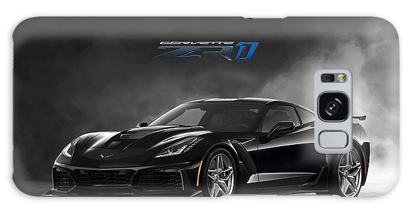 Front Galaxy Case - Black Cat Corvette by Peter Chilelli
