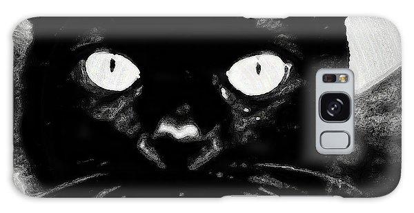 Black Cat Galaxy Case