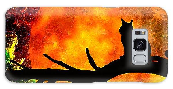 Black Cat Harvest Moon Galaxy Case
