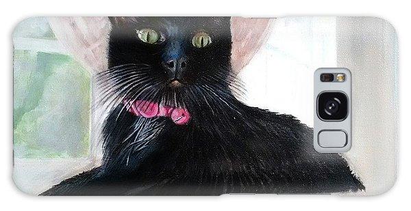 Black Cat Galaxy Case by Jan VonBokel
