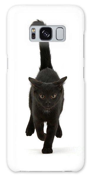 Black Cat On The Run Galaxy Case