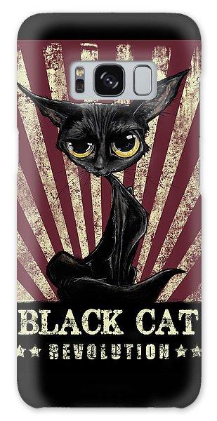 Black Cat Revolution Galaxy Case