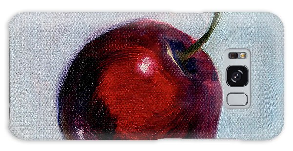 Galaxy Case featuring the painting black Cherry by Nancy Merkle